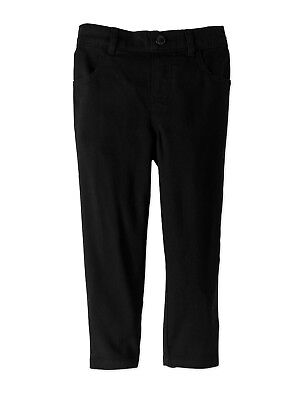 NEW Toddler Girls Garanimals Black Woven Cotton Twill Pants Size 5T