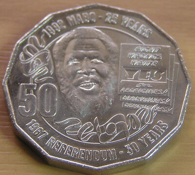 2017 50c Pride And Passion Eddie Mabo Specimen Grade Coin:Removed from Mint Roll