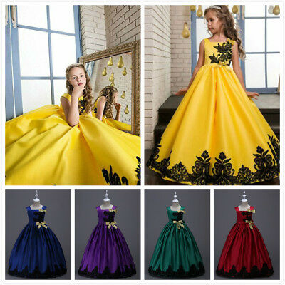 Flower Girl Princess Dress Kid Party Wedding Pageant Formal Tutu