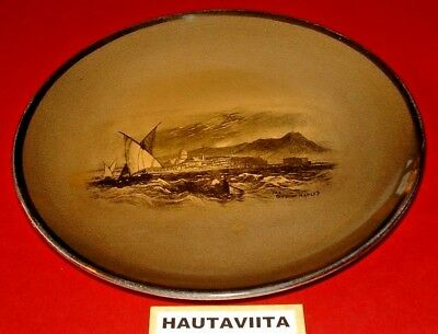 1914 Ridgways Royal Vistas Ware Bay Naples Wall Plate - Paintings Famous Art UK