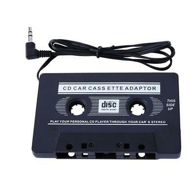 Car Audio Cassette Tape to 3.5mm AUX Audio Adapter for MP3 CD DVD Player Black-し
