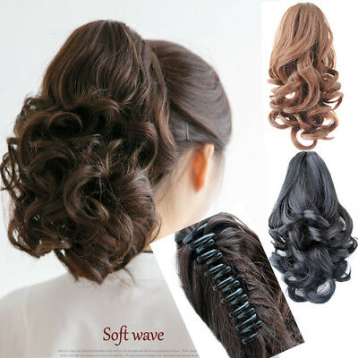 14inch Women Short Wavy Curly Claw Hair Ponytail Hairpiece Hair Extensions