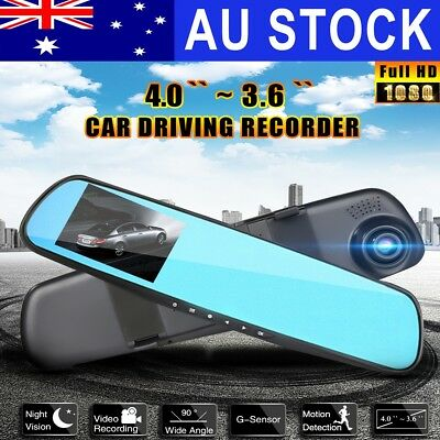 AU HD Car DVR Rear View LCD Mirror Camera Dash Cam Video Recorder Night Vision
