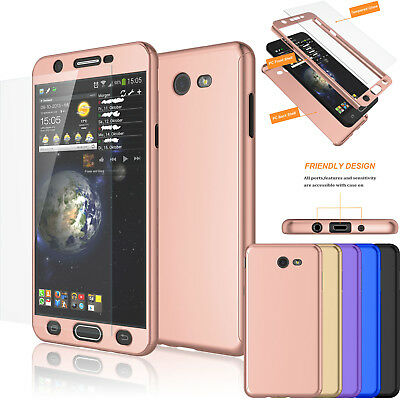 360° Protective Case Tempered Glass For Samsung Galaxy J7 Sky Pro / J7 Prime /