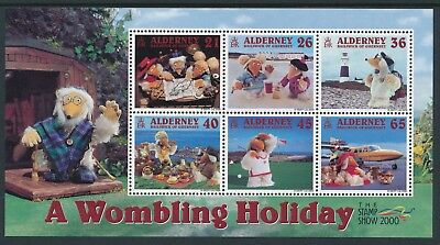 2000 Alderney A Wombling Holiday Minisheet Fine Mint Mnh