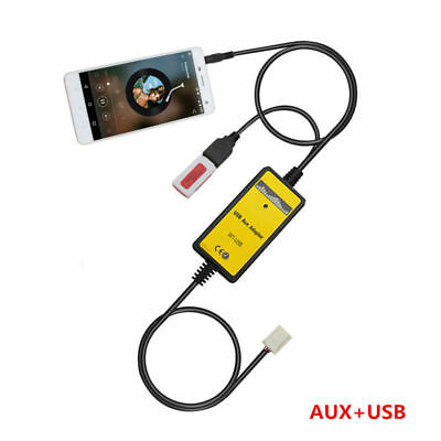 Car USB MP3 AUX Interface CD Changer In Adapter Cable For Toyota Camry 6+6Pin