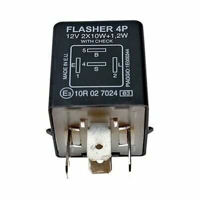 Relay Flasher Original with Piaggio Check for Ape Mix 2T 50 - 2000