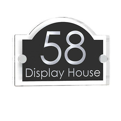 Clear Acrylic House Sign Door Number Plaque Name Plate Signs Displaypro