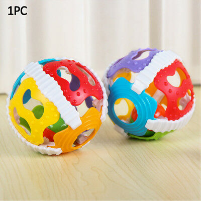 Baby Ball Develop Intelligence Newborn Grasping Educational Toy Hand Rattle New