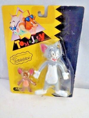 Tom And Jerry Bendable Poseable Twistables Figures 1989 Just Toys New
