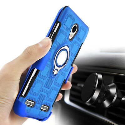 FOR ZTE BLADE L7/ A320 Armor Case Cover Luxury Magnetic Kickstand Ring  Holder