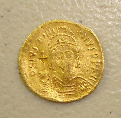 AD 527-565 Justinian I the Great Ancient Byzantine Gold Solidus F clipped