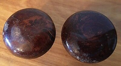 Vintage Brown Bakelite ? Interior Door Knobs As Is