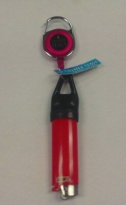 Premium Lighter Leash Red Retractable Pull Out Holder Clip With Bic Lighter