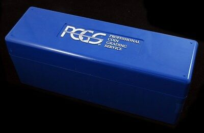 1 Lightly used PCGS Blue Storage Box Lot Holds 20 Coins
