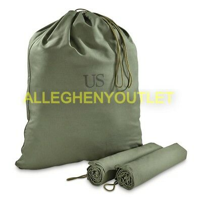 Lot of 3 US Army Military Barrack Bag Cotton Laundry Duffle Tote Storage Bag VGC