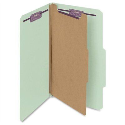 Smead 18776 Gray/green Pressboard Classification Folder With Safeshield
