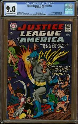 Justice League of America #55 CGC 9.0 1st Appearance of Golden Age Robin in SA