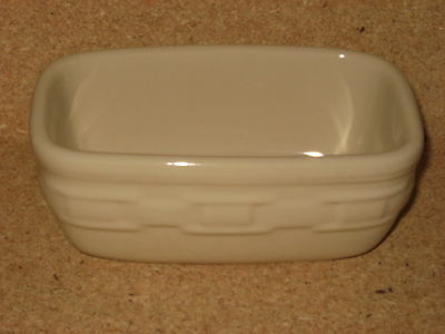 Longaberger Ivory Cream Pottery Dash Bowl  MINT condition never used!