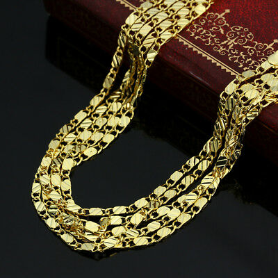 Gold Plated 18K Stainless Steel 2.5mm Rope Chain Necklace Men Women Fashion Gift