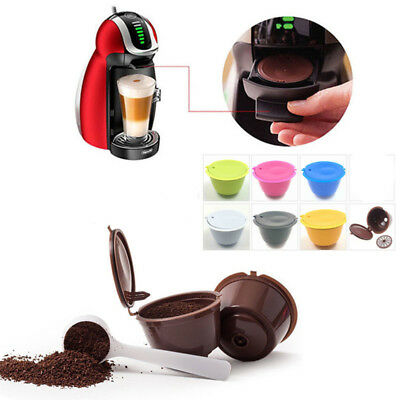 Capsule Pod Coffee Filter Cup Machine Holder For Nescafe Dolce Gusto Reusable TU