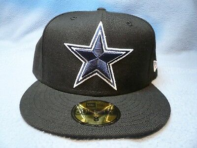 d1ce7f9ea37 New Era 59fifty Dallas Cowboys Brand New Fitted Cap Hat Black Nfl