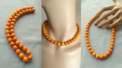 GUDE 老琥珀 prayer beads amber bakelite butterscotch necklace Gebetskette Bernstein