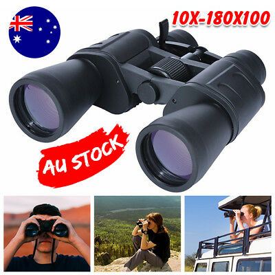 AU 50mm Tubes 10x-180x100 Zoom Day Night HD Vision Binoculars Outdoor Telescope