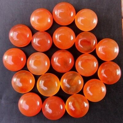 Wholesale Lot of 5mm Round Cabochon Top Grade Natural Earth Mined Carnelian Gems