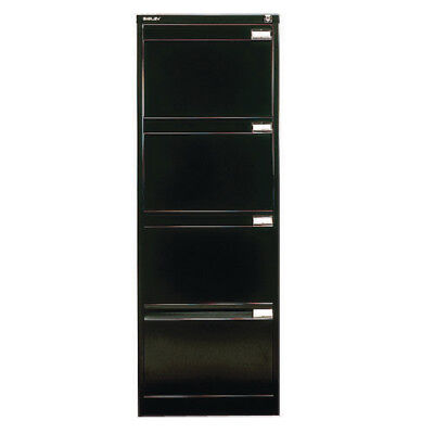 Bisley Black Four-Drawer Filing Cabinet BS4E Black