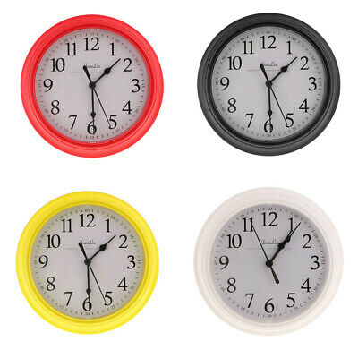 Wall Clock, Silent Non Ticking Quality Quartz Battery Operated 9Inch Round, PICK