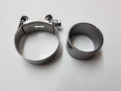 Honda VTR 1000 F 1997 - 2006 Exhaust Collector Box Pipe Seal & Clamp - Front - 1