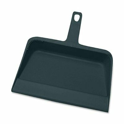 "Genuine Joe Heavy Duty Dust Pan - 12"" Wide - Plastic - Black (GJO02406)"