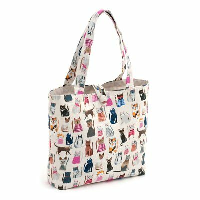 Hobby Gift 'Cats in Jumpers' Shoulder Bag Craft Bag 14 x 38 x 63cm (d/w/h)