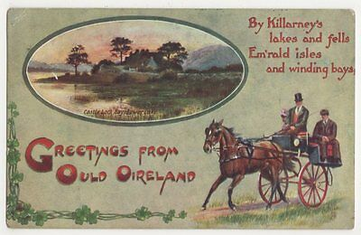 Greetings from Ould Ireland, Tuck 9565 Postcard, B404