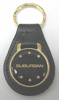 Black Chevrolet SUBURBAN Black Leather GMC Goldtone Chevy Keyring 1935 - 2018