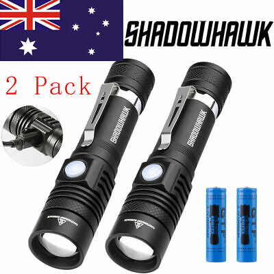 20000LM Shadowhawk COB LED Flashlight Working Lamp Rechargeable Magnetic Torch