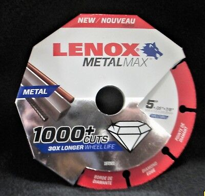 "New LENOX 1972922 5"" x .05"" x 7/8"" Metalmax Diamond Steel-Cutting Cut-off Wheel"