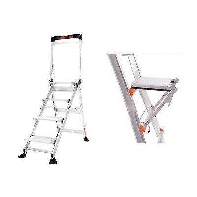 Little Giant Ladder 375 Lb CapacityJumbo 4 Step Ladder + Work Platform Accessory