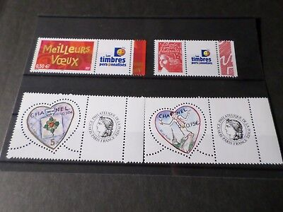 LOT FRANCE timbres vignettes PERSONNALISEES 2003/2004, neufs** VF MNH STAMPS