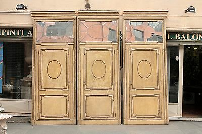 Group Of 4 Doors End Nineteenth Century Hinge With Mirrors To Mercury / Gates
