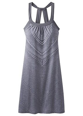Prana Cantine Dress, elastisches Kleid für Damen, charcoal synergy
