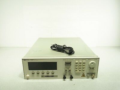 HP Agilent 8168A Tunable Laser Source Partially Tested SOLD AS IS
