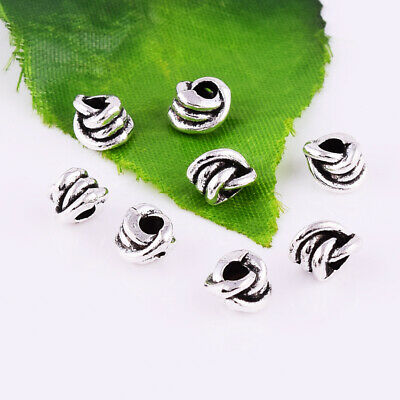 Metal Spacer Beads Charm Accessories Jewelry Finding 6x5mm Tibetan Silver Beads
