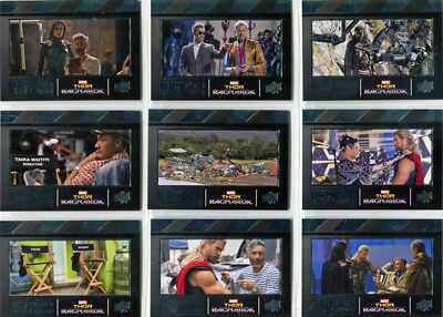 Thor Ragnarok Movie Behind The Lens Complete 20 Card Chase Set