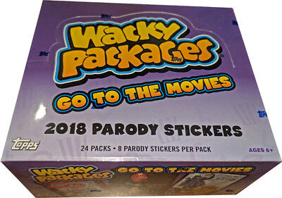 Wacky Packages Go To The Movies 2018 Factory Sealed Box of 24 Packs