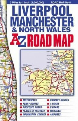 North Wales Road Map (A-Z Road Maps... by Geographers' A-Z Map Sheet map, folded