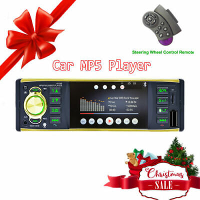 Touch Bluetooth 4.1'' 1DIN HD Car Radio Stereo MP5 Player USB RDS FM AUX +Camera