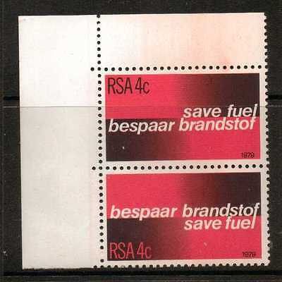South Africa Sg457/8 1979 Fuel Conservation  Mnh