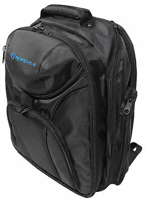 Rockville DJ Laptop/Gear Travel Backpack Bag w/ Headphone Compartment+Dividers